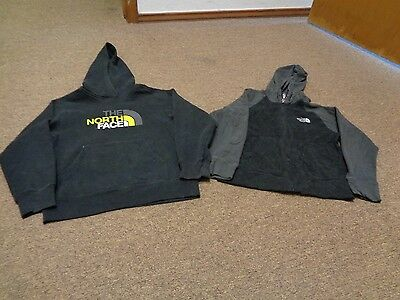 Lot 2 The North Face Hoodie Jacket Sz S Boys Youth Hiking Sport Black Gray