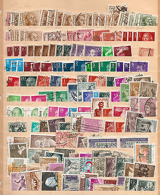 a  dealers lot of used stamps from Spain, with duplication.