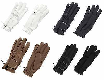 New ~ ** Harry Hall**  White Domy Suede Horse Riding Gloves~ Size Large~Dressage
