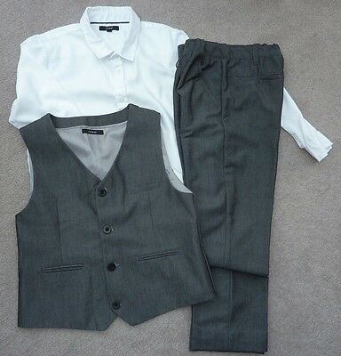 Boys Next 3 Piece Set -Trousers ,shirt, Waitcoat Age 9-10 Years