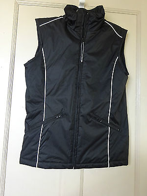New No Tags Black  **ladies Horse Riding Gilet ** Size 10