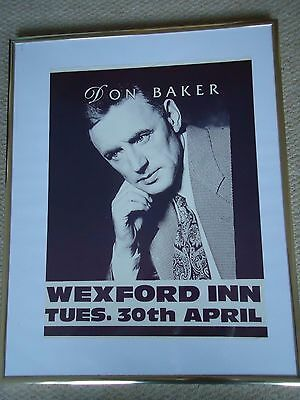 Don Baker Gig Poster1996 Vintage Original 21Yr Old Rare Collectible Valuable Gem