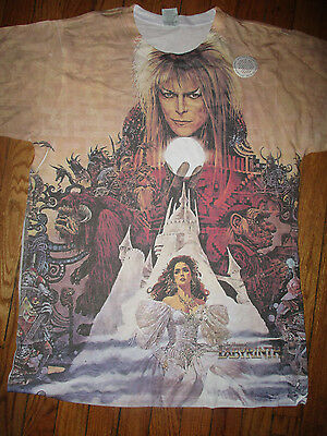 Brand New DAVID BOWIE Labyrinth All Over Dye Sublimated Print T Shirt XL