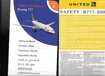 10 x BARGAIN  B777 AIRLINE SAFETY CARDS