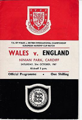 WALES  v  ENGLAND  ( European Nations Cup )  1967.