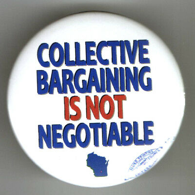 WISCONSIN pin LABOR UNION Collective Bargaining