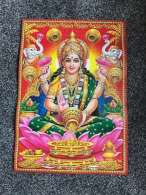 Lovely Poster Of Hindu Goddess Lakshmi