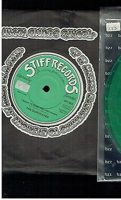 Duplicates I Want To Make You Very Happy 45 Stiff Records 1979