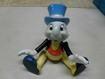 JIMINY CRICKET jointed porcelain music box - DISNEY Doll !!