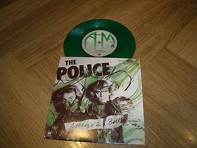 "The Police Message In A Bottle Rare Green Vinyl 7"" Single."
