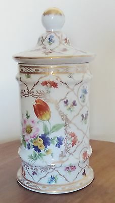 Vintage Andrea By Sadek Porcelain Handpainted Tall Jar With Lid