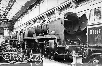 Southern P/c size photo Eastleigh 18/3/66 34004 Yeovil,34100 Appledore & D6557