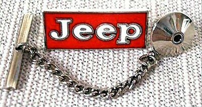 Jeep Tie Tack Pin and Chain Clasp