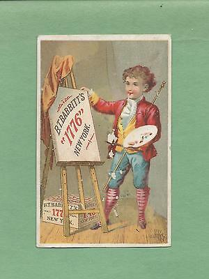BOY ARTIST On Colorful BABBITT'S SOAP Victorian Trade Card