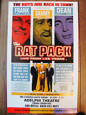 The Rat Pack Live From Las Vegas London Musical Theatre Poster