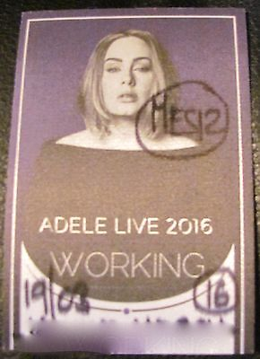 Adele 25 World Tour 2016 Working Backstage Satin Pass Mauve