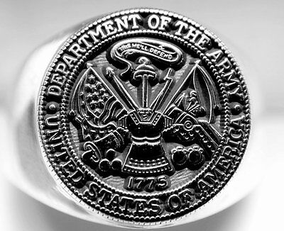 Department of the Army - United States of America ARMY Ring in Sterling Silver