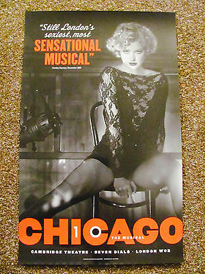 Chicago London Musical Theatre Poster Sensational Musical