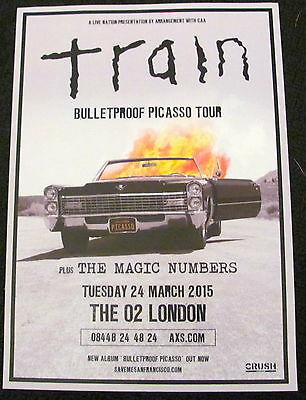 Train Bulletproof Picasso World Tour 2015 London A4 Poster