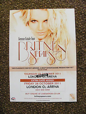 Britney Spears Femme Fatale World Tour2011 London Poster
