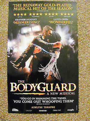 The Bodyguard London Musical Theatre Poster Runaway Hit