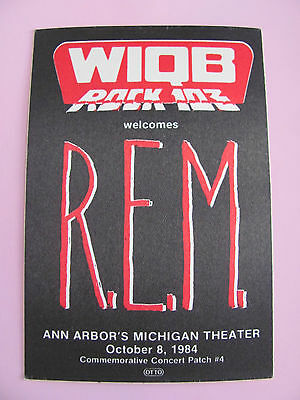 Rem Wiqb Roack Fm October 1994 Working Backstage Pass Satin Pass