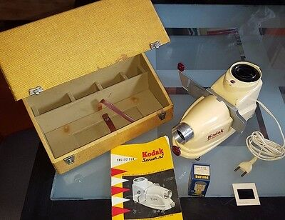 Projecteur diapositive KODAK Senior N°1 Boite Notice Ampoule Vintage f/3,5-100mm