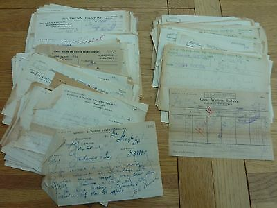 1920s 1930s LARGE COLLECTION BRITISH RAILWAY MEMOS AND TELEGRAMS ALL COMPANIES