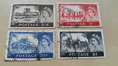 Great Britain - 1955 Castles Used