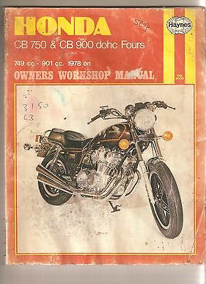 Honda CB 750 CB 900 dohc fours Haynes Manual Motorcycle Workshop Manual Book