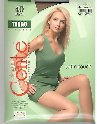 Conte Tights Pantyhose TANGO 40 DEN Size L (4) Color Natural (Beige).