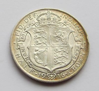 George V - 1916 Silver Halfcrown - Very good collectable coin