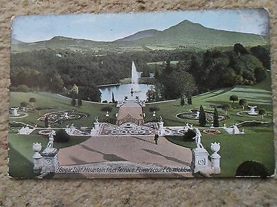 RARE LAWRENCE POSTCARD.S,L,M.FROM TERRACE POWERSCOURT Co WICKLOW.POSTED BRAY1906