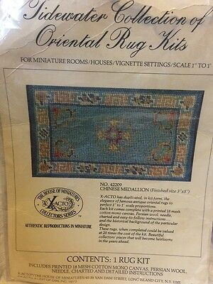 House of Miniatures Rug Kit Tidewater Oriental Dollhouse Chinese Medallion Xacto