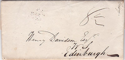 Gb : Pre-Stamp Postage Entire Letter, From Dunoon To Edinburgh Solicitor (1831)