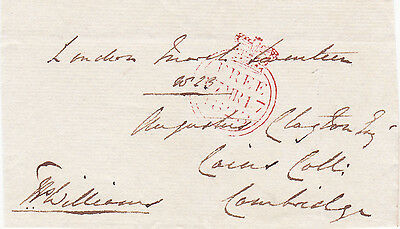 Thomas Peers Williams **signed Free Front, M.p. For Great Marlow (1823)
