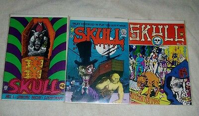 Lot of SKULL Comix: #4,5,6,  1st Print Undergrounds!