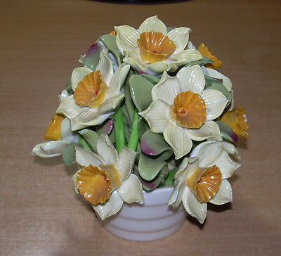 Aynsley flower bouquet Daffidols. Vintage English china 5 inch Narcissus