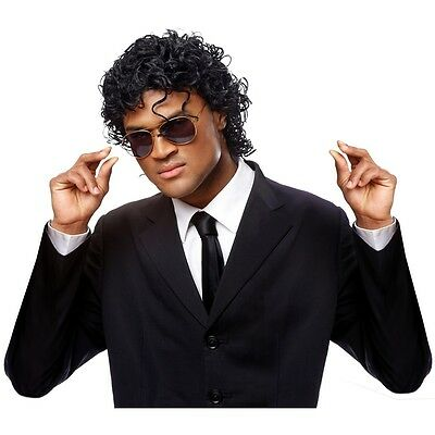 Jerry Curl Wig Adult 80s Pop Star Costume Jheri Curl Halloween Fancy Dress