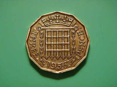 Great Britain 3 Pence, 1956, Crowned portcullis