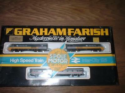 GRAHAM FARISH No 8126 HST 125 SET EXECUTIVE LIVERY GOOD CONDITION MODEL TRAIN