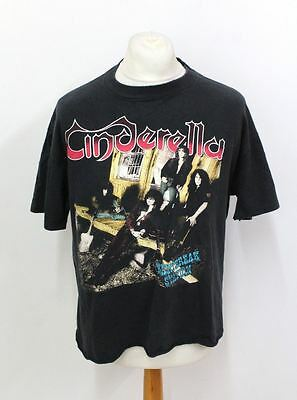 THE BROCKUM COLLECTION Black Short Sleeve Cinderella Band Print T-Shirt XL