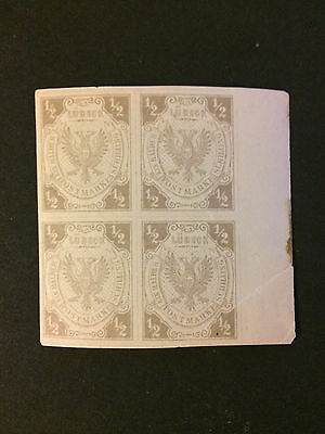 Germany Lubeck Fournier Forgery block of four