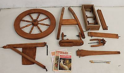 Vintage Ashford Traditional Handmade Wooden Craft Spinning Wheel Single Drive