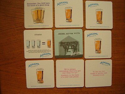 9  Different  Adnams  Brewery   Beer  Mats / Coasters   New