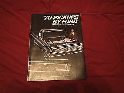 Nos 1970 Ford F-100 F-150 F-250 F-350 Pickup Trucks Dealer Sales Brochure Rare