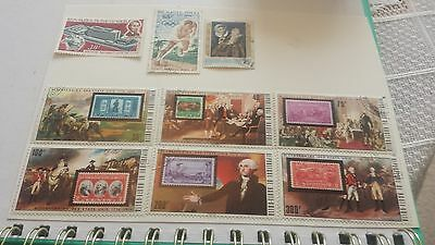 9 DE HAUTE VOLTA  STAMPS,  1970s. AND EARLIER.