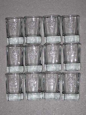 Lot Of Jack Daniels Old No 7 Whiskey Square Clear Shot Glasses Set Of 12