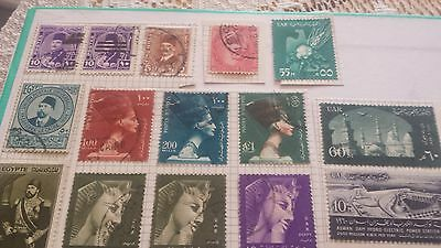 34 EGYPT  STAMPS,  1970s. AND EARLIER.