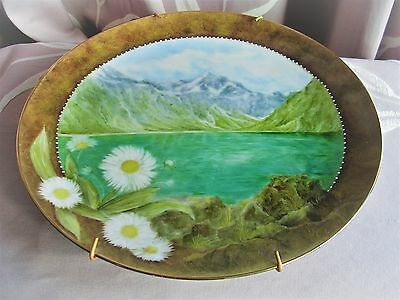 LAKE MARION NEW ZEALAND HAND PAINTED L McHAFFIE
